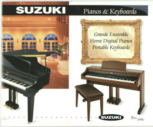 1996 SUZUKI PIANO & KEYBOARD CATALOG! 21st CENTURY PREVIEW! SPECS/FEATURES! PICS