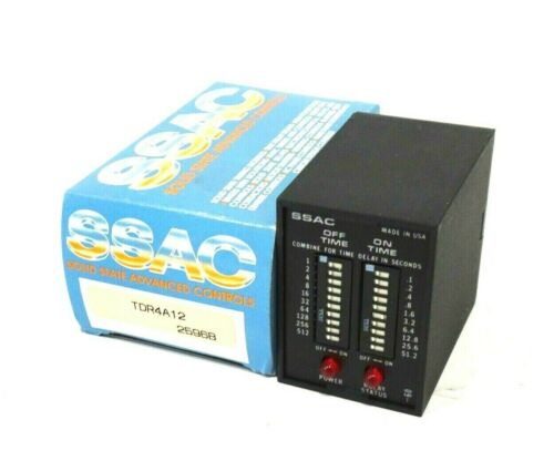 NEW SSAC TDR4A12 TIME DELAY RELAY 120VAC