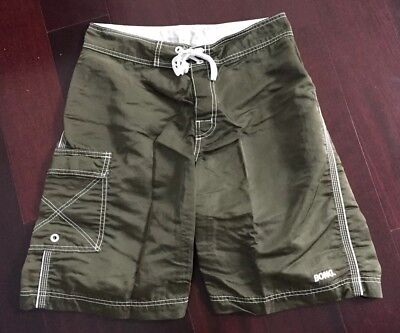Billabong Boardshorts Nylon (Vintage Men's Billabong 100% Nylon Made in USA Surf Board Shorts Swim Trunks 29)