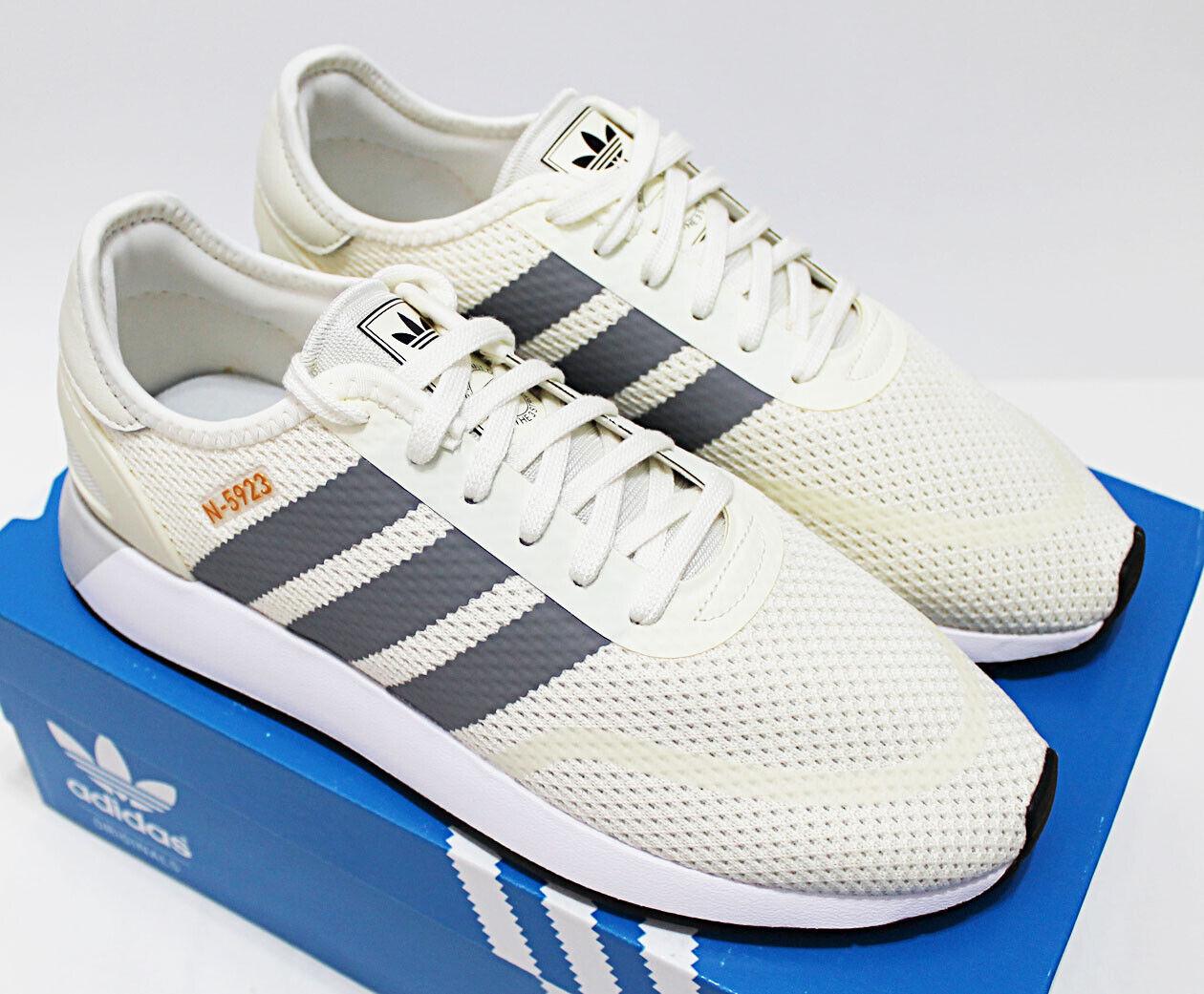 4c4087cc108 $90 NIB ADIDAS N-5923 Men's Cream-White-Grey Low Sneakers Trainers running  shoes