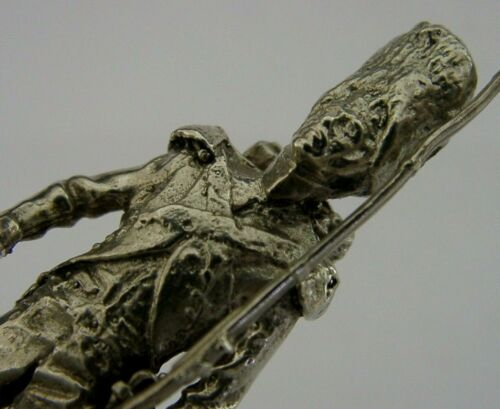 RARE ENGLISH SOLID CAST STERLING SILVER MILITARY SOLDIER FIGURE 1975 44g