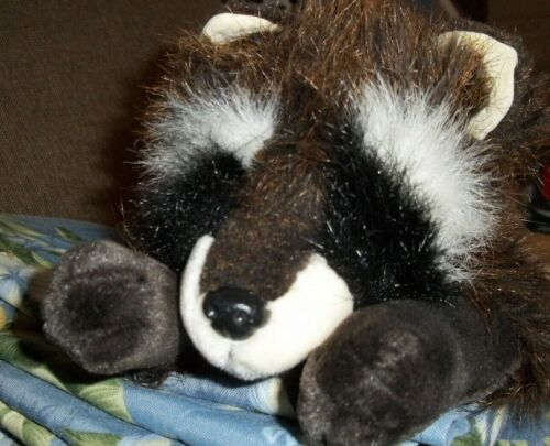 "21"" MISCHIEF RACCOON ANIMAL FARM COUNTRY RUSS BERRIE ULTRA PLUSH STUFFED DOLL"