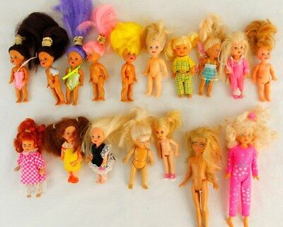 Lot Of 17 Barbie KELLY & Friends Dolls Vintage 1990s
