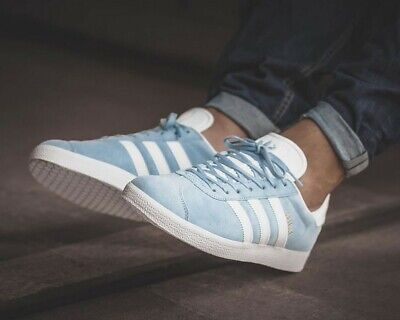 ❤ BNWB & Authentic Adidas Originals ® Gazelle Trainers in Sky Blue UK Size 8