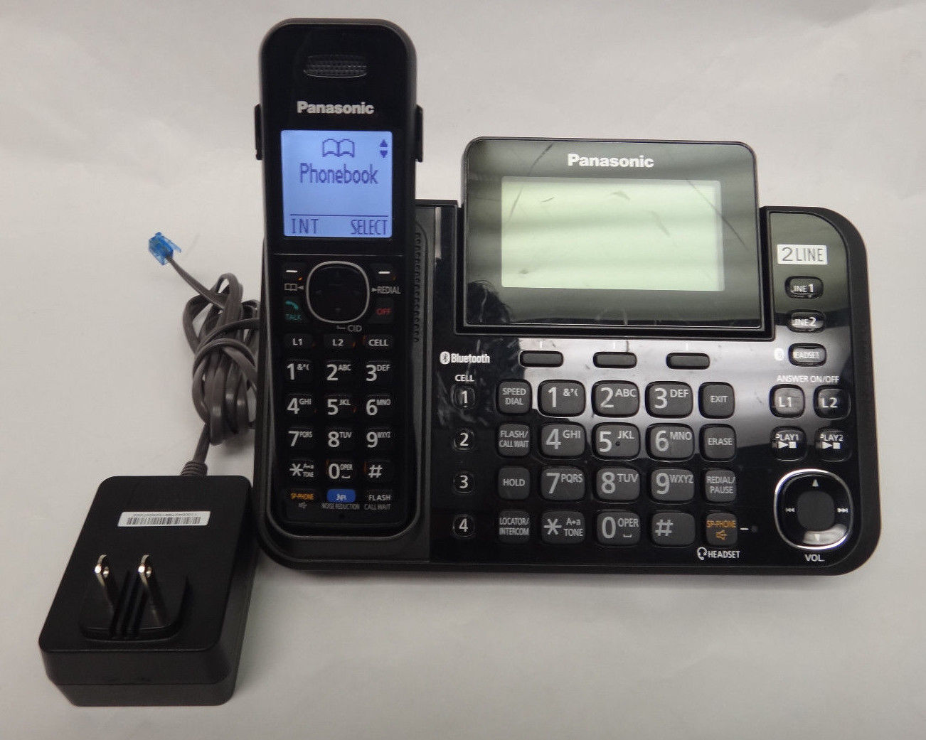 Panasonic Kx-tg9541 2 Line Operation 1 Handset Link2cell DECT 6.0 Plus |  eBay