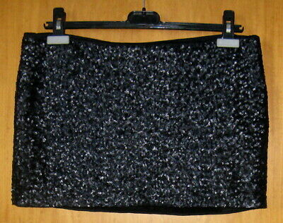 BELLISSIMA MINI GONNA CYCLE CON PAILLETTES NERO Tg L (46)
