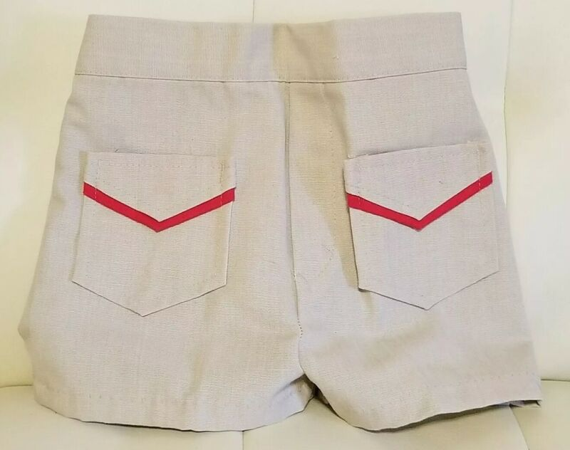 Vintage Donmoor Toddler Shorts Little Boy Khaki 3T 1980s Front Pockets