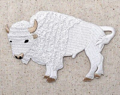 White Buffalo - American Bison - Animals - Iron on Applique/Embroidered Patch