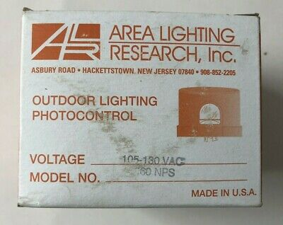 New Area Lighting Research 2060nps Photo Light Control 105-130vac 1000watt