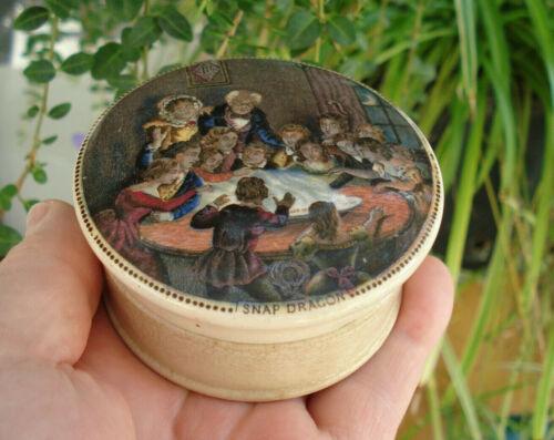 Antique, ceramic, (ca 1870) rated as RARE, multi-colored Prattware jar pot lid