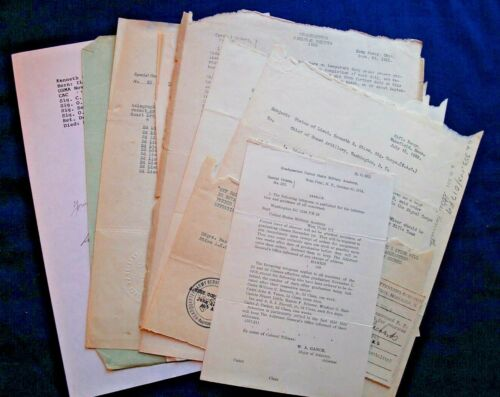 Lot of WWI Paper for Kenneth S. Stice, Lt. C.A.C.