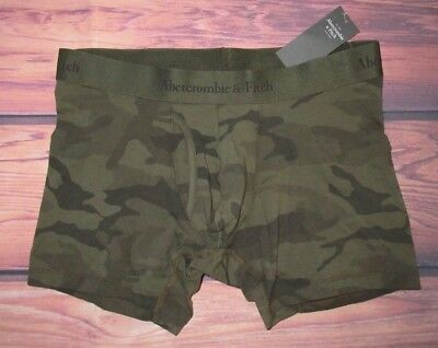 MENS ABERCROMBIE & FITCH CAMOUFLAGE GREEN BOXER BRIEF SIZE S (29/30)