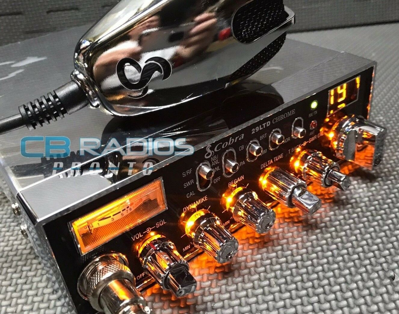 Cobra 29 LTD Chrome - AMBER LIGHT EDITION PERFORMANCE TUNED. Buy it now for 289.95