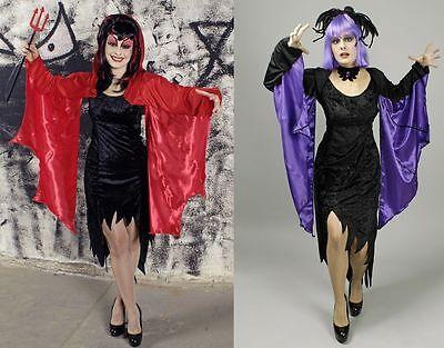 Bolero Teufel rot Fledermaus lila Dämon Flügel Kostüm Halloween (Lila Fledermaus Flügel Kostüm)