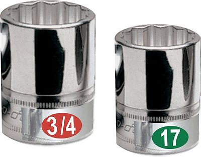 3 Pack Easy Read - Chrome Labels organize your socket set, tool box, and tools