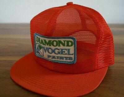 Vintage Snapback K-Brand USA Trucker Hat Full Mesh DIAMOND VOGEL PAINT     Loc:Q