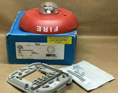 System Sensor Scrl Ceiling Strobe Indoor Fire Alarm 2-wire Clear Lens 8102