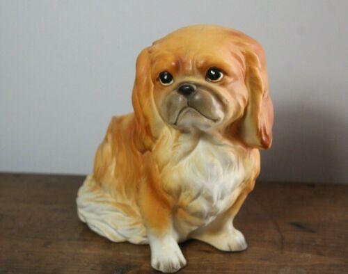 Vintage Pekinese Dog Ceramic Planter Figurine