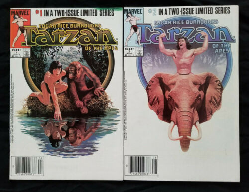 Tarzan Of The Apes #1 & 2 - Complete Set Newsstands! Lot Of 2 Movie - (6.0-7.0)