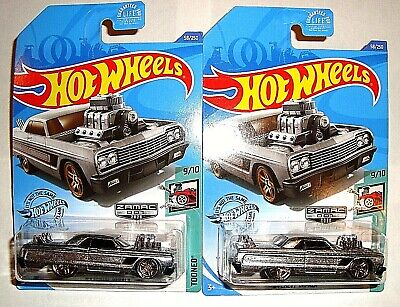 2020 HOT WHEELS ZAMAC​ LOT OF 2 - '64 CHEVY IMPALA CARS WALMART EXCLUSIVE