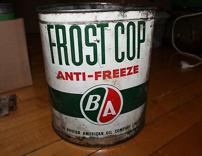 BA British American Oil Company Frost Cop Anti-Freeze Gallon Can Tin B/A Sign for sale  Canada