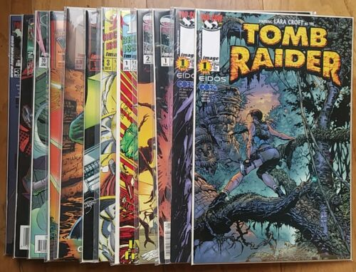 IMAGE COMICS lot of 12 TOMB RAIDER 1 MARS ATTACKS SAVAGE DRAGON TMNT etc VARIANT