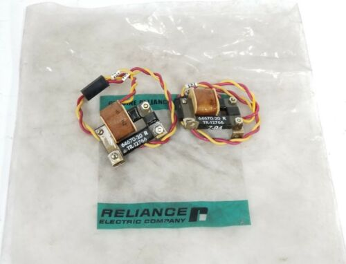 LOT OF 2 NEW RELIANCE ELECTRIC TR-12766 TRANSFORMERS 64670-20 R