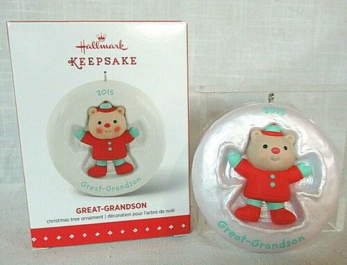 Hallmark 2015 Snow Angel Ornament ~ Great-Grandson