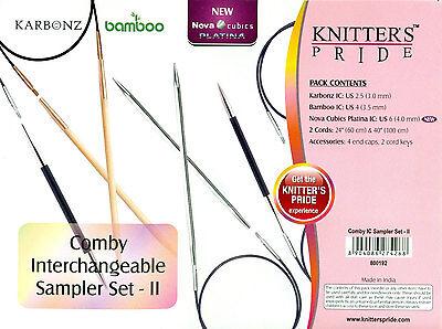 Knitter's Pride Comby Interchangeable Sampler Needle Set II 3 Pairs