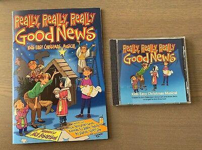REALLY REALLY REALLY GOOD NEWS KIDS CHRISTMAS MUSICAL Book & CD Brentwood Benson ()