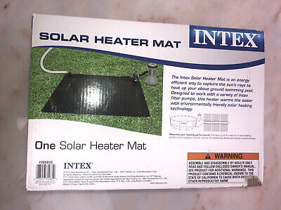 Intex Solar Mat Above Ground Swimming Pool Water Heater - Black | 28685E NEW