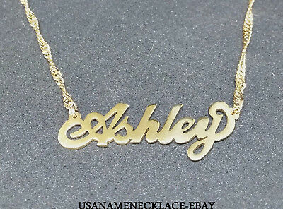 Personalized  Any Name Necklace  24K Gold-plated - Any Name necklace. Usa Seller