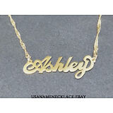 Personalized  Any Name Necklace  24K Gold-plated - Any Name necklace.