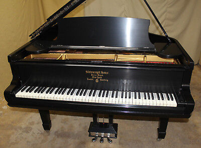 1891-1892 Steinway Model A Grand Piano Ebony Satin Finish