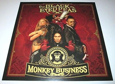 BLACK EYED PEAS~Monkey Business~1ft by 1ft Promo Poster Flat~NM Condition