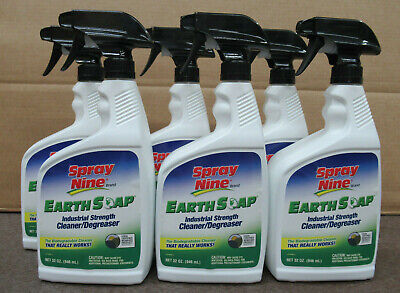 SPRAY NINE 27932 EARTH SOAP INDUSTRIAL STRENGTH CLEANER / DEGREASER CASE OF 6