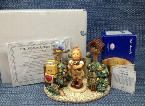 Goebel Hummel Loving Wishes 573 2/0 with Love Letter Hummelscape Boxes COA Mint