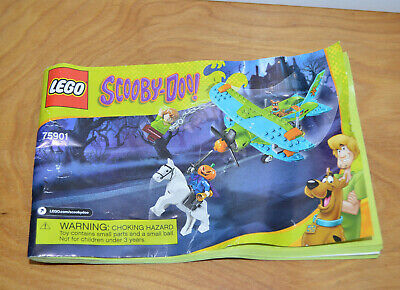 LEGO SCOOBY DOO MYSTERY PLANE INSTRUCTION MANUAL Only Booklet Set 75901 2015