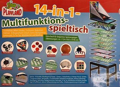 Multifunktions Spieltisch 14 in 1 u.a. Billiard, Tischtennis, Schach, Backgammon
