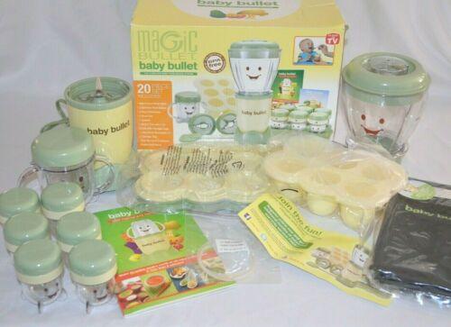 Magic Baby Bullet Baby Food Making System Blender Processor Set BBR2001
