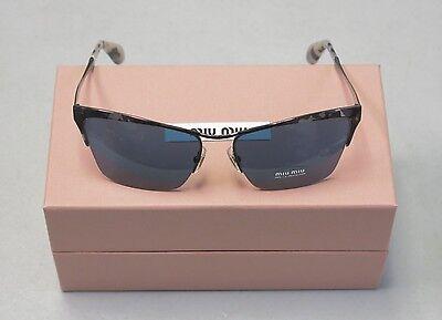 Miu Miu Sunglasses MU50PS MU 50PS KAD1V1 Ruthenium Tortoise Blue NEW! 31555