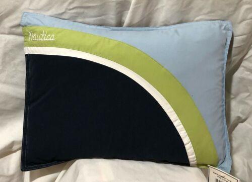 "Nautica Boardshort Blue Green Navy 12"" x15"" Throw Pillow  NOS / NWT"