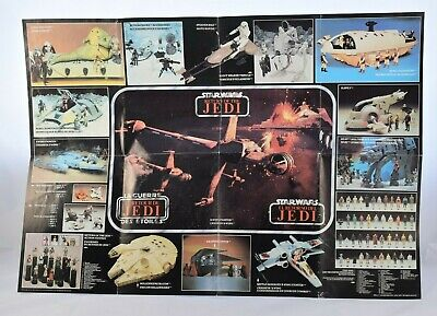 Star Wars Vintage Palitoy RETURN OF THE JEDI Toy Collection Line Up Poster   #F