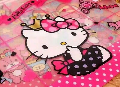 Hello Kittysanrio A4 File Bag Document File Folder School Office Us Seller