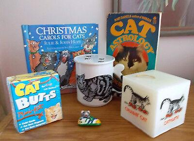 CATSTRAVAGANZA! KITTY CAT SET MUG & LID KLIBAN CANDLE CAT BUTTS MINI-KIT MORE