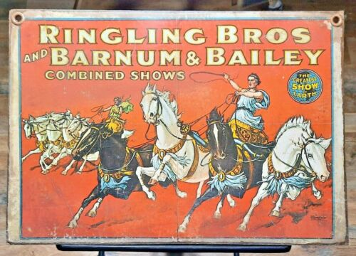 RINGLING BROS. BARNUM BAILEY Circus vintage Poster wood handmade Art sign