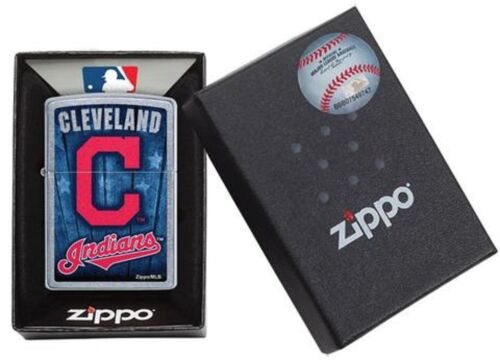 Zippo Lighter Cleveland Indians Logo New In Box