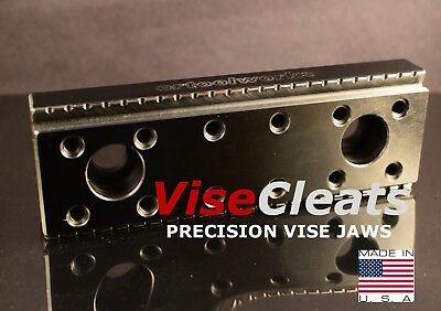 Visecleats Model 200 Hardened Precision Ground Dual Grip Jaws For Kurt 6vises