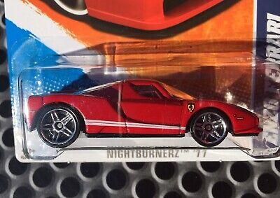 2011 Hot Wheels Nightburnerz Enzo Ferrari - Factory Sealed Set - FREE SHIPPING