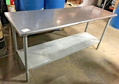 Stainless Steel Prep Table Eagle Commercial Prep Table T24 72b 72 W